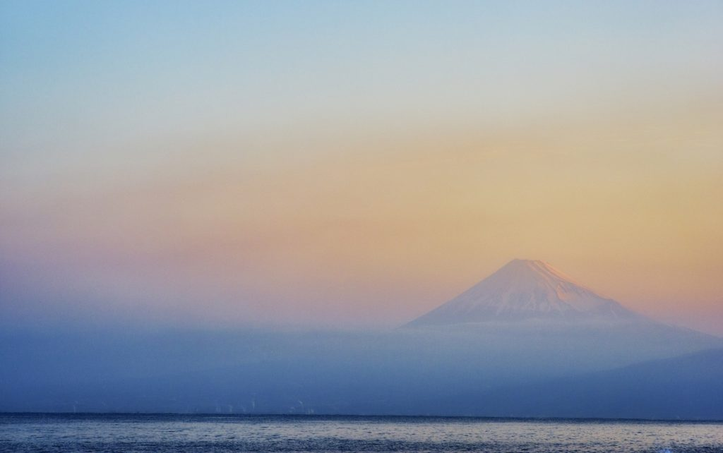 Fuji over the sea taken from Nishiizu