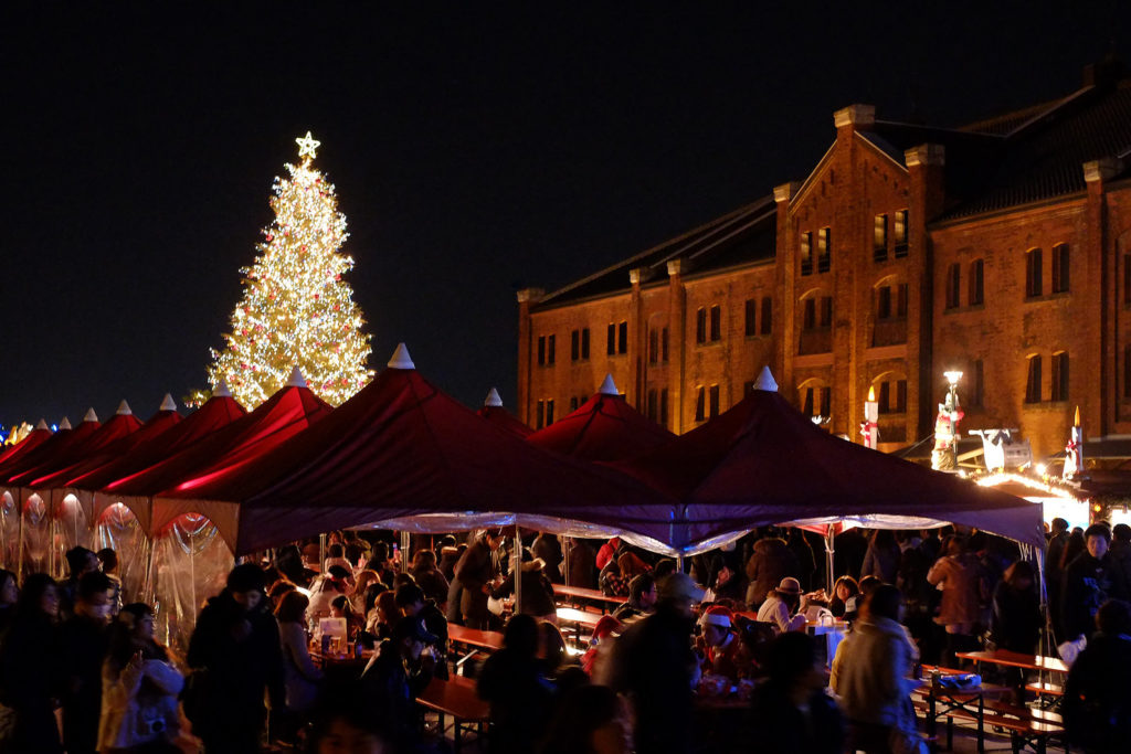 Yokohama Red Brick Warehouse Holiday Market during Christmas
