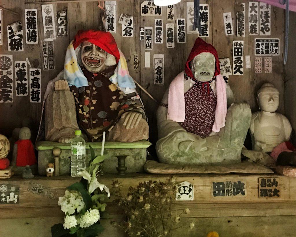 Yamadera Temple Statues Yamagata Japan