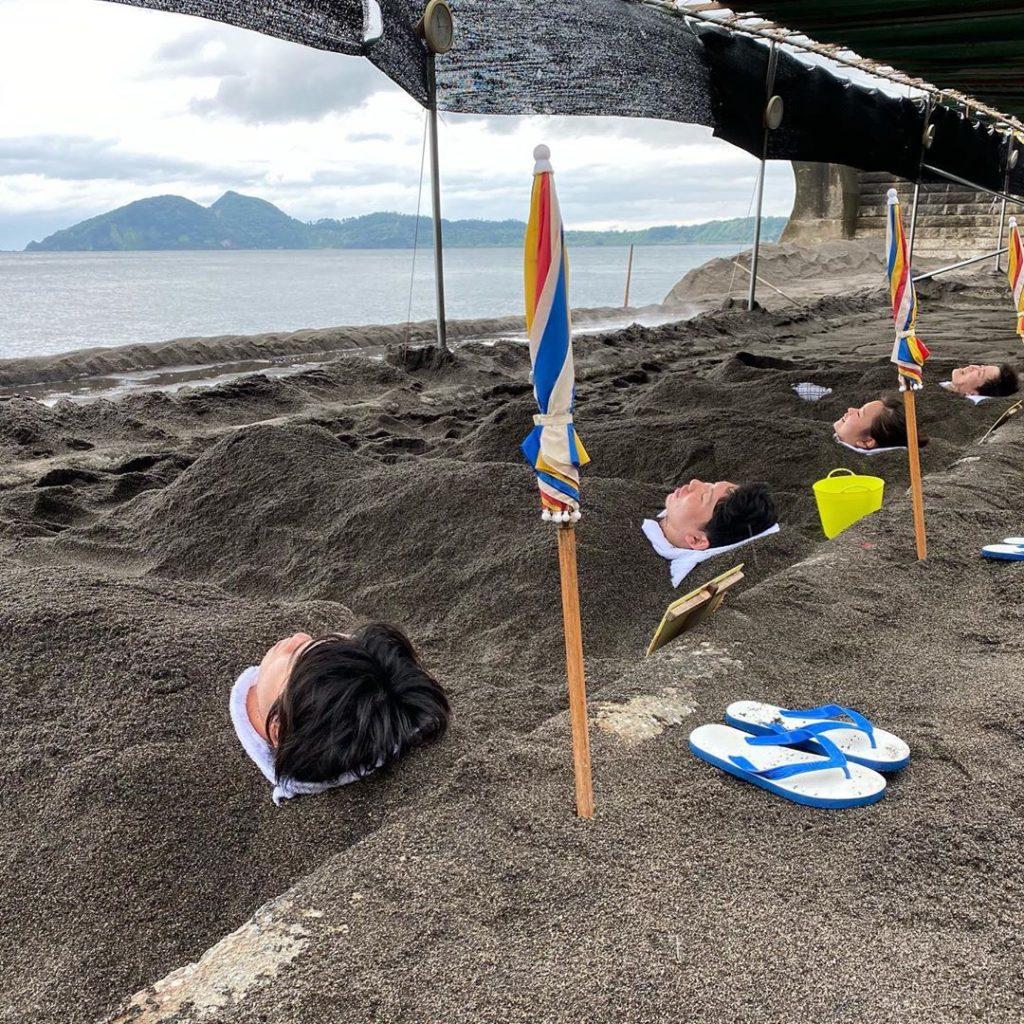 sandbathing in Ibusuki in Kagoshima Japan