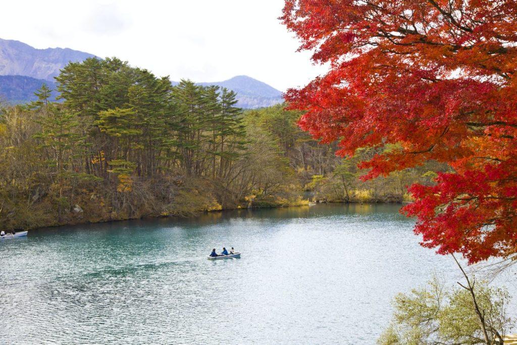 Goshikinuma Bishamonnuma pond in Fukushima