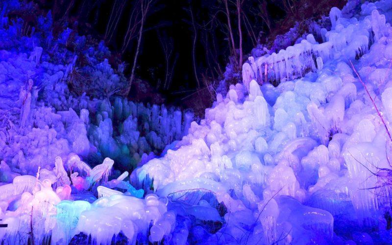 Ashigakubo icicles, Saitama