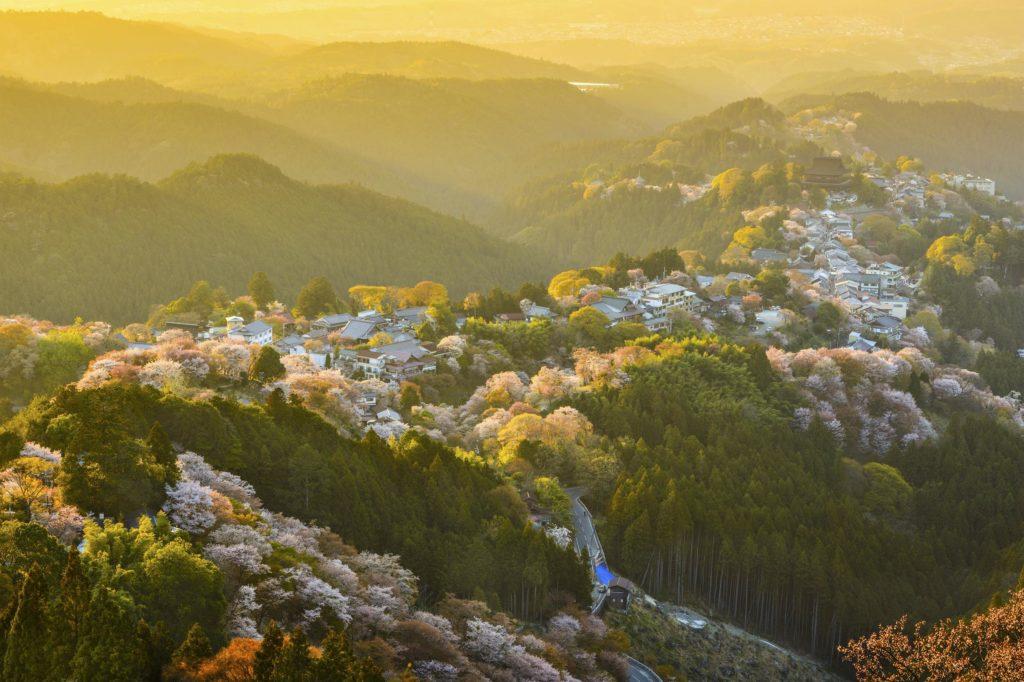 Mount Yoshino in Nara, Japan