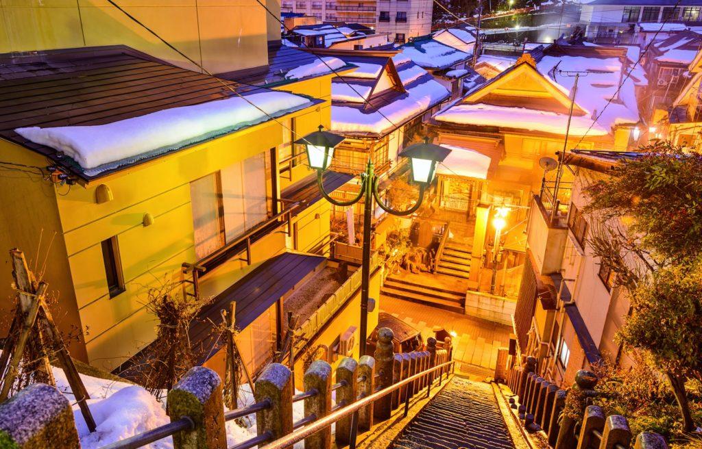 Shibu Onsen Alley Staircase, nagano
