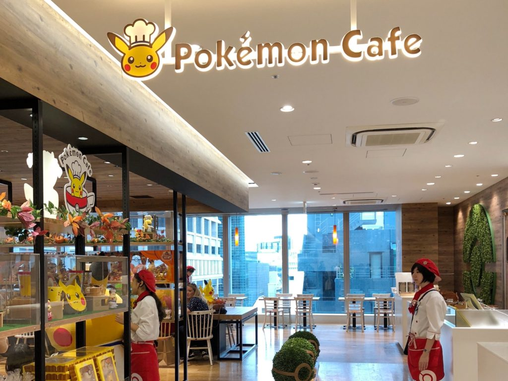 Entrance to the Pokemon Cafe