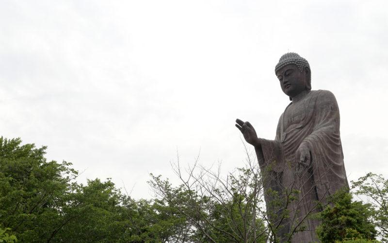 Ushiku Daibutsu in Ibaraki, Japan.