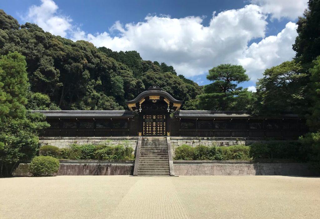 Tsukinowa no misasagi at Sennyu-ji.