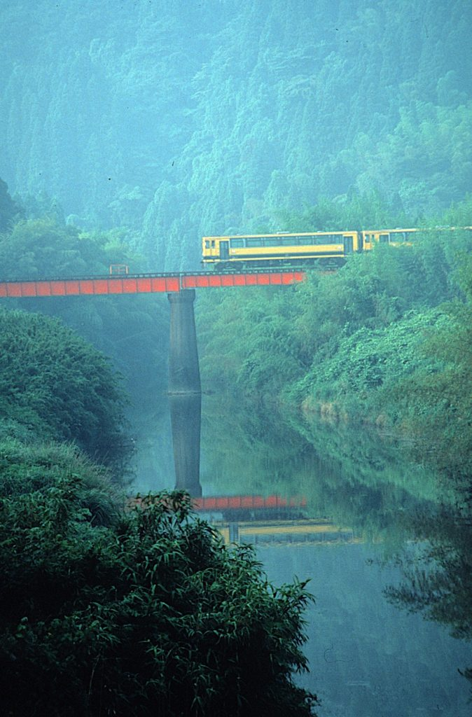 Isumi railroad and Isumi kawa river-