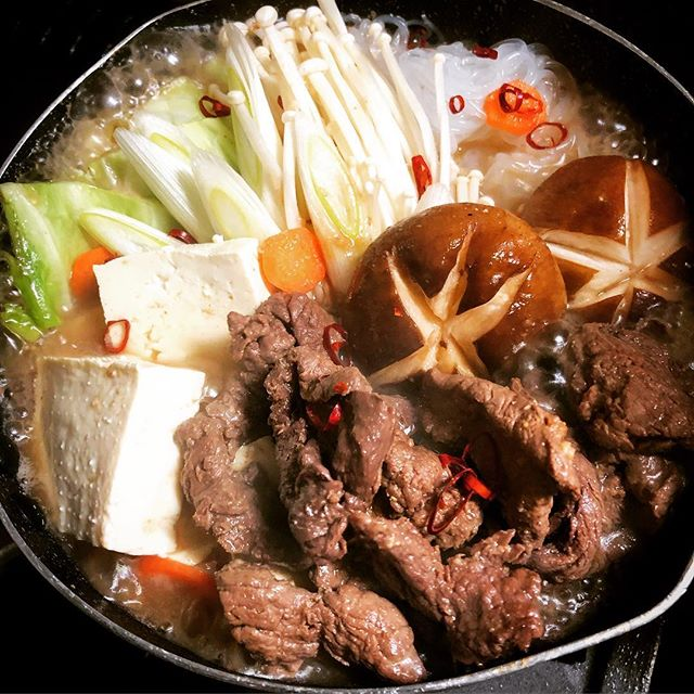 horse meat nabe cooked