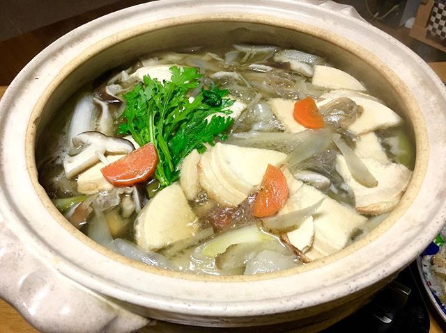 Senbei jiru, rice cracker soup, aomori