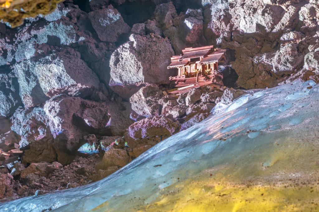 Narusawa Ice Cave in Yamanashi, Japan.