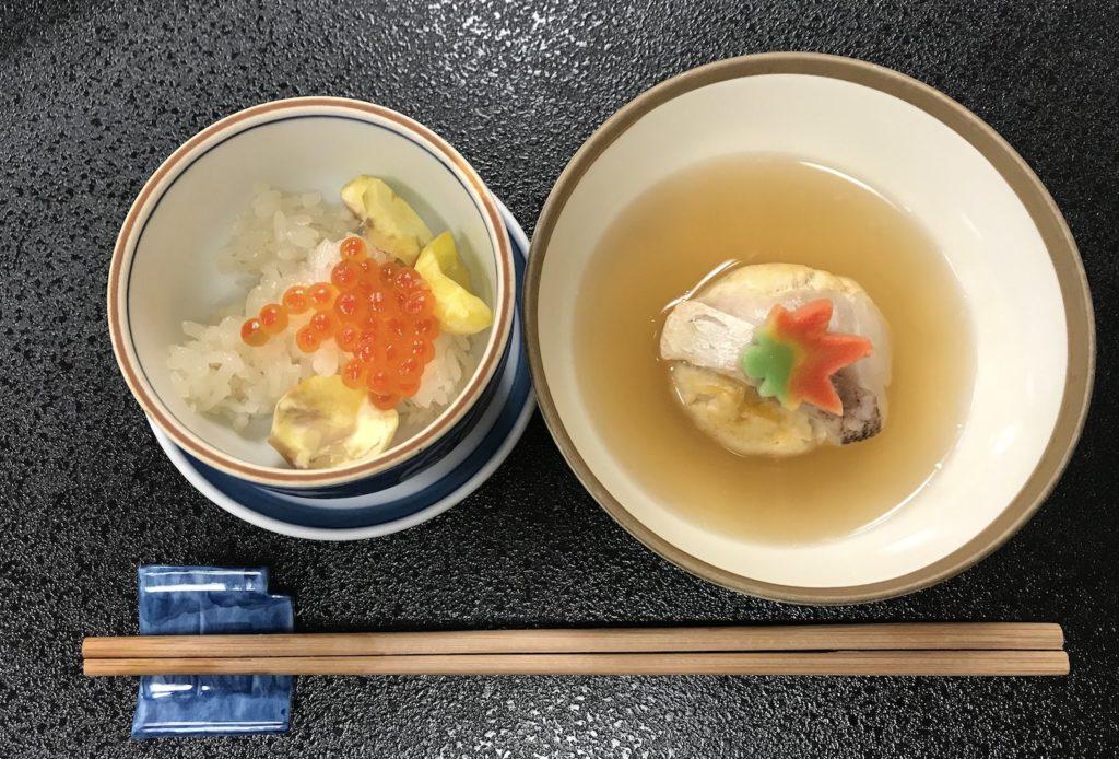 A seasonal fall meal in Oda city.