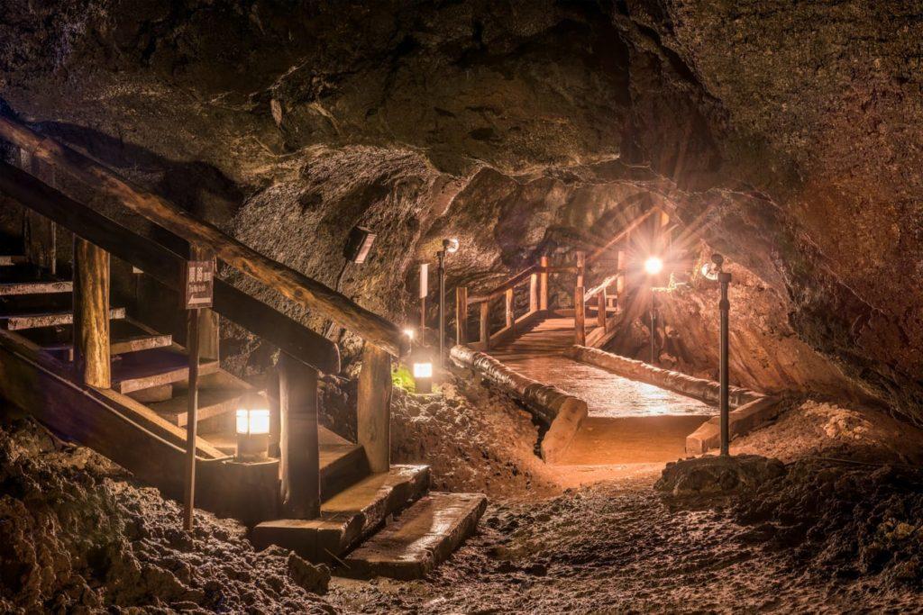 Saiko Bat Cave near Saiko Lake in Japan.