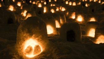 Yokote city turns into an romantic little spot come winter. Akita, winter