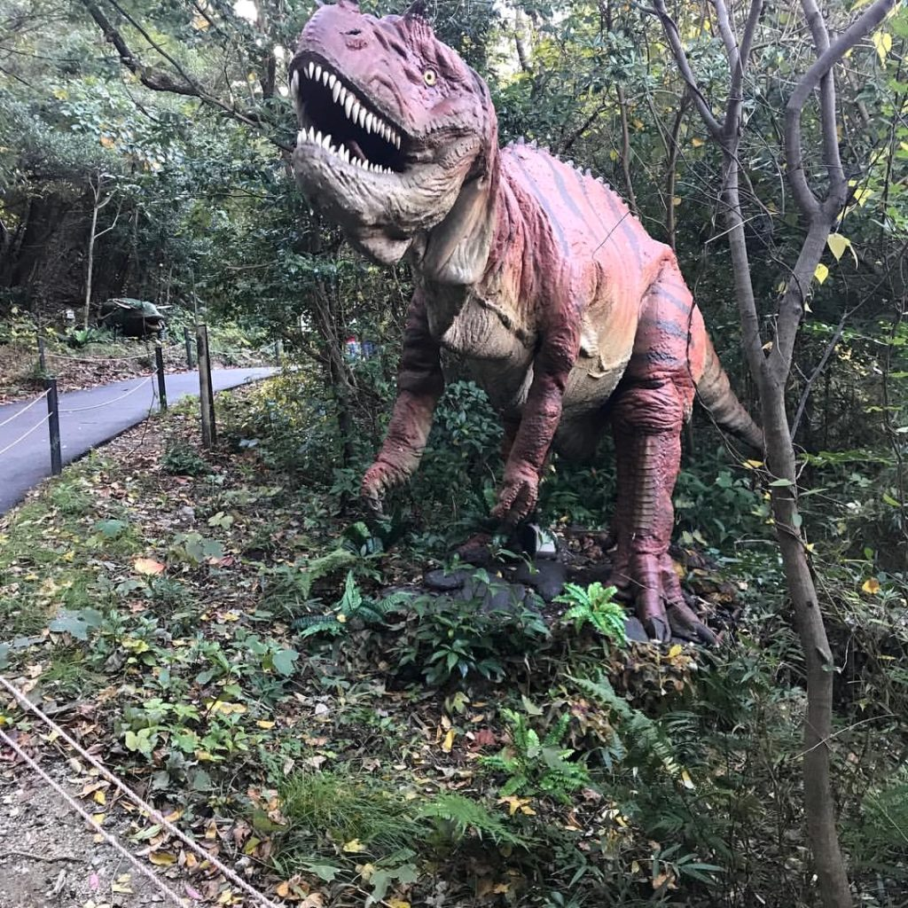 Dino Adventure Nagoya lets your see dinosaurs up close in the forest.