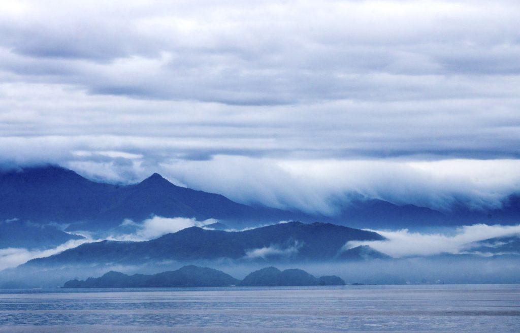 Striated clouds at Uwajima, Shikoku, Japan