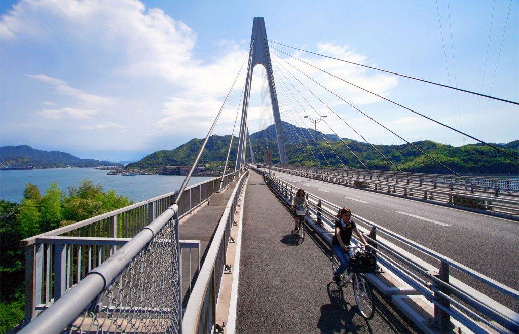 Kurushima kaikyo bridge in Ehime, Japan.