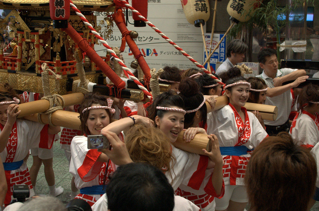 The Tenjin Festival mikoshi