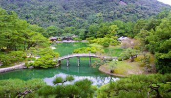 Ritsurin Garden in Takamatsu, Shikoku, Japan