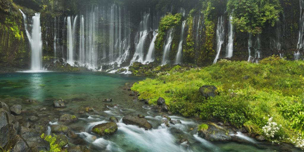 Shiraito Falls near Mount Fuji, Shizuoka