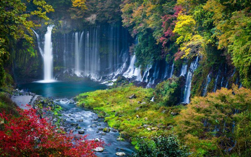 Fuji Five Lakes Shiraito Falls Shizuoka
