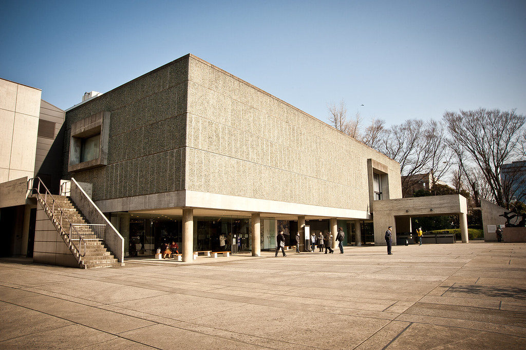 The National Museum of Western Art, Ueno Park, Tokyo. Designed by Le Corbusier
