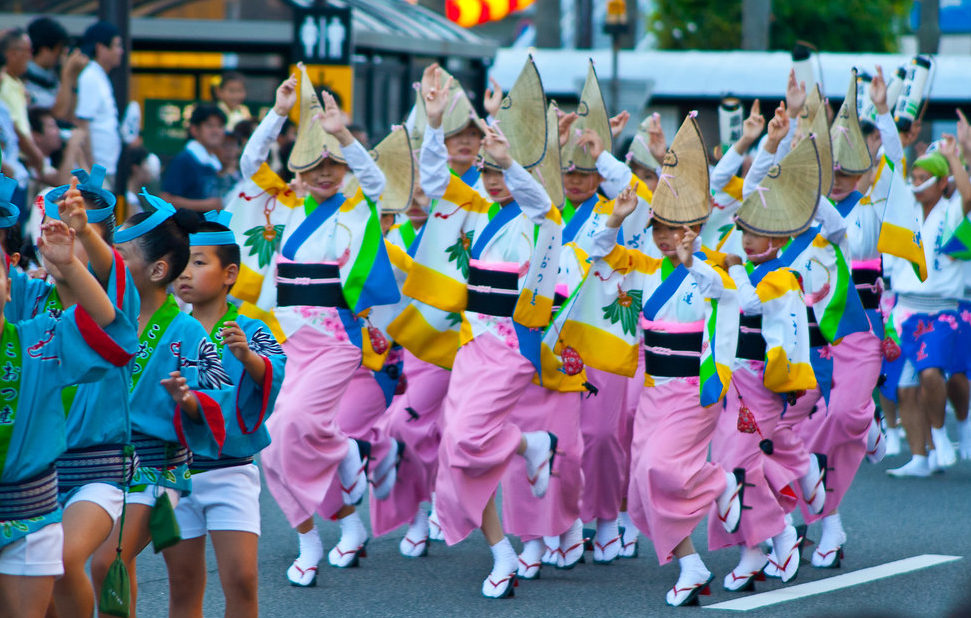 Ren dancers at the Tokushima Awa Odori.