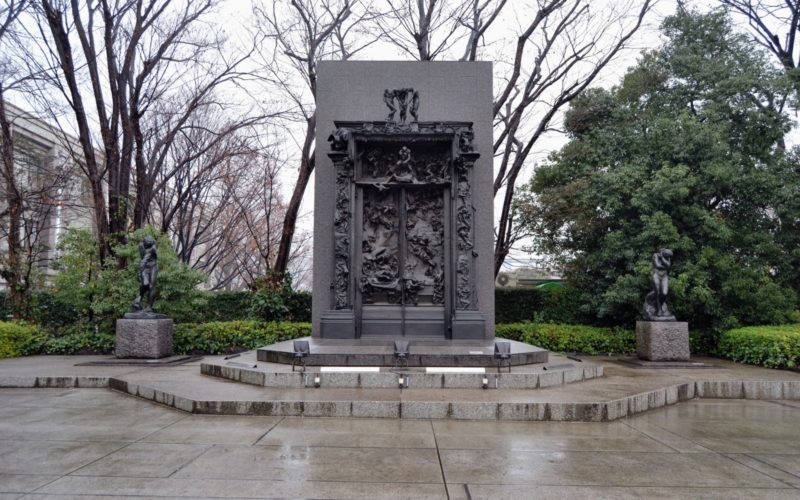 Auguste Rodin's The Gate of Hell outside The National Museum of Western Art in Ueno, Tokyo.