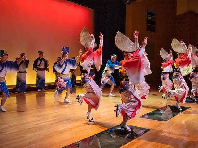 A performance at the Awa Odori Kaikan.