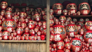 Daruma dolls at Katsuo-ji Temple in Osaka