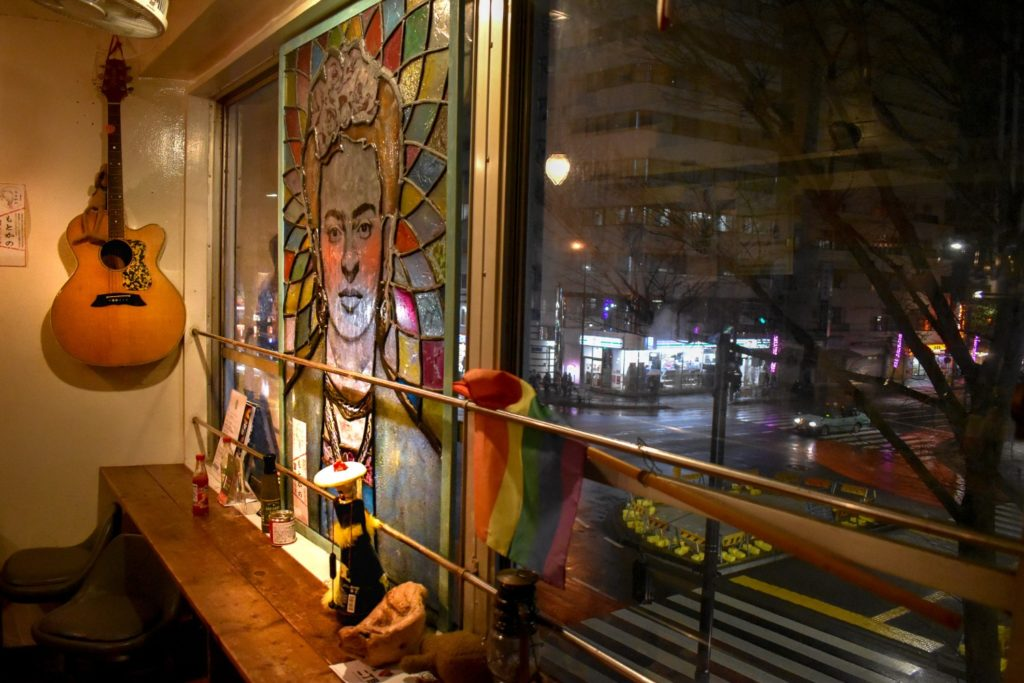 Rainbow Burritos in Shinjuku Ni-chome's Frida Kahlo stained glass.