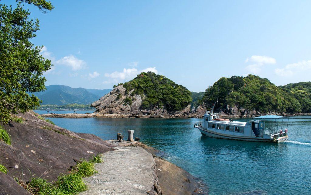 Take a boat ride and see the Tatsukushi Coast.