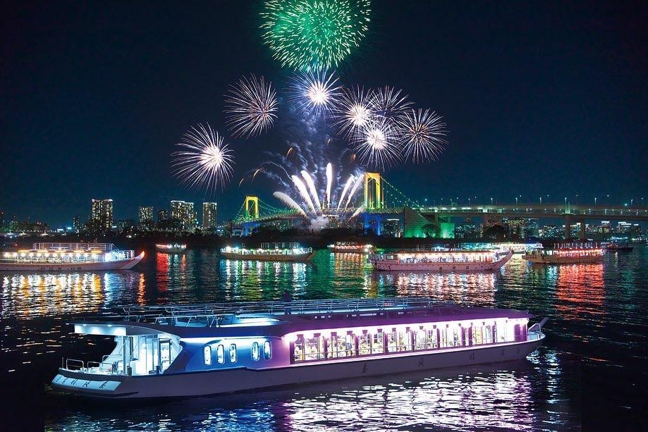 Sumidagawa Fireworks boat
