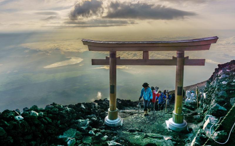 Mount Fuji in Yamanashi Prefecture, Japan.