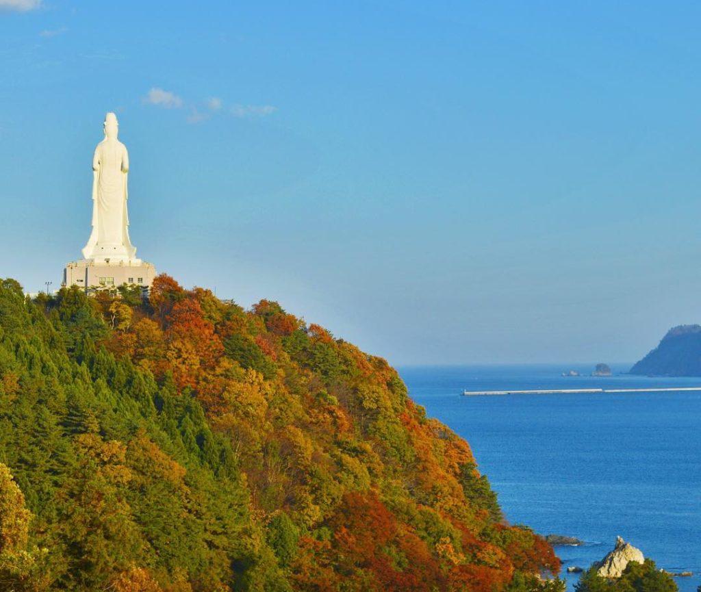 Kamaishi Dai Kannon buddha statue in Iwate Prefecture.