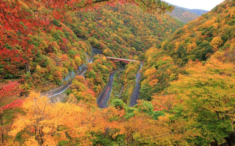 Sennin-toge Mountain Pass in Kamaishi, Iwate Prefecture