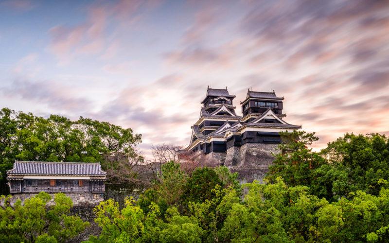 Kumamoto, Japan at Kumamoto Castle.