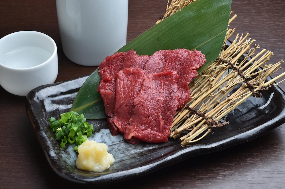 Horse sashimi from Kumamoto city, Japan