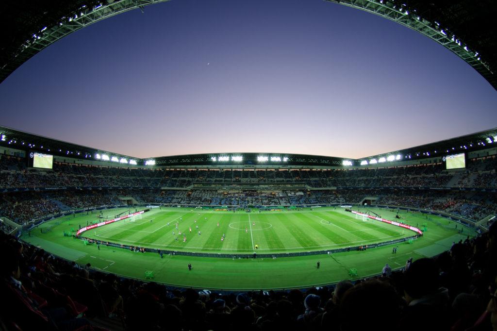 Nissan Stadium in Yokohama, Kanagawa, Japan