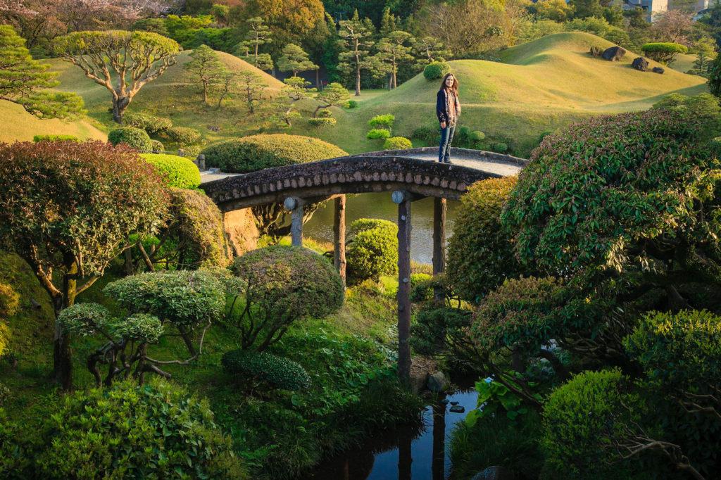 Suizenji Garden in Kumamoto City, Kumamoto Prefecture Japan