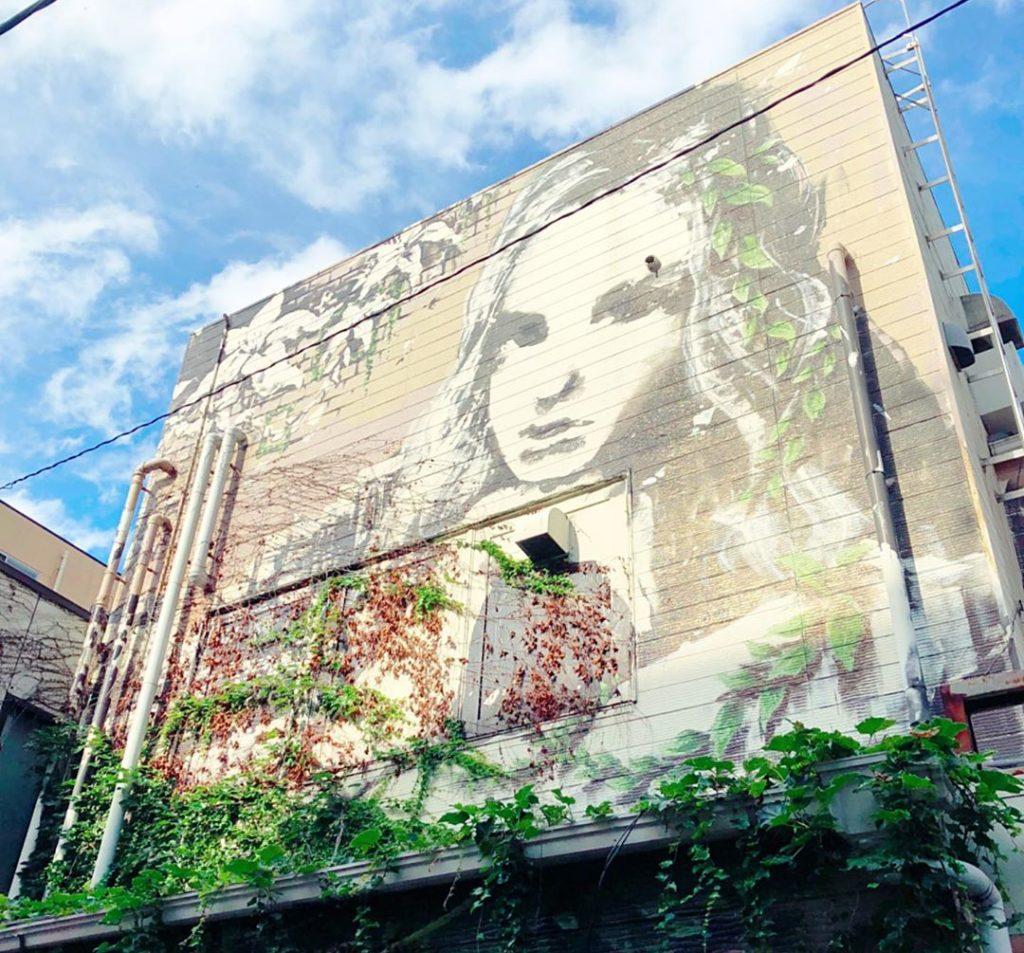 Street art in Daimyo Fukuoka