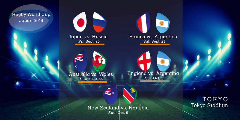 Tokyo Infographic for the 2019 Rugby World Cup