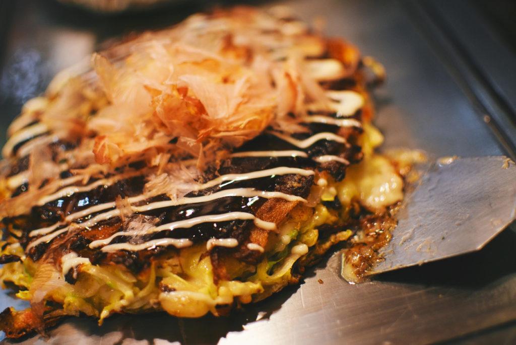 Okonomiyaki from Osaka on Dotombori