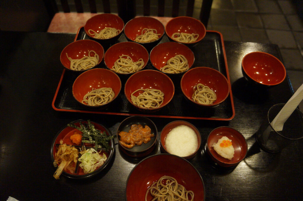 Wanko soba in Iwate