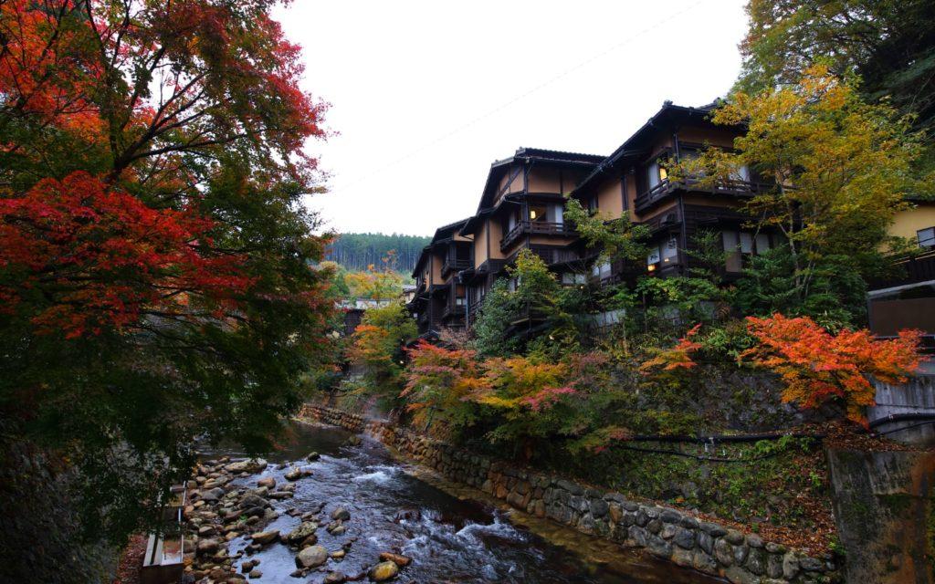 Best spots for autumn leaves viewing in Kyushu Kurokawa Onsen