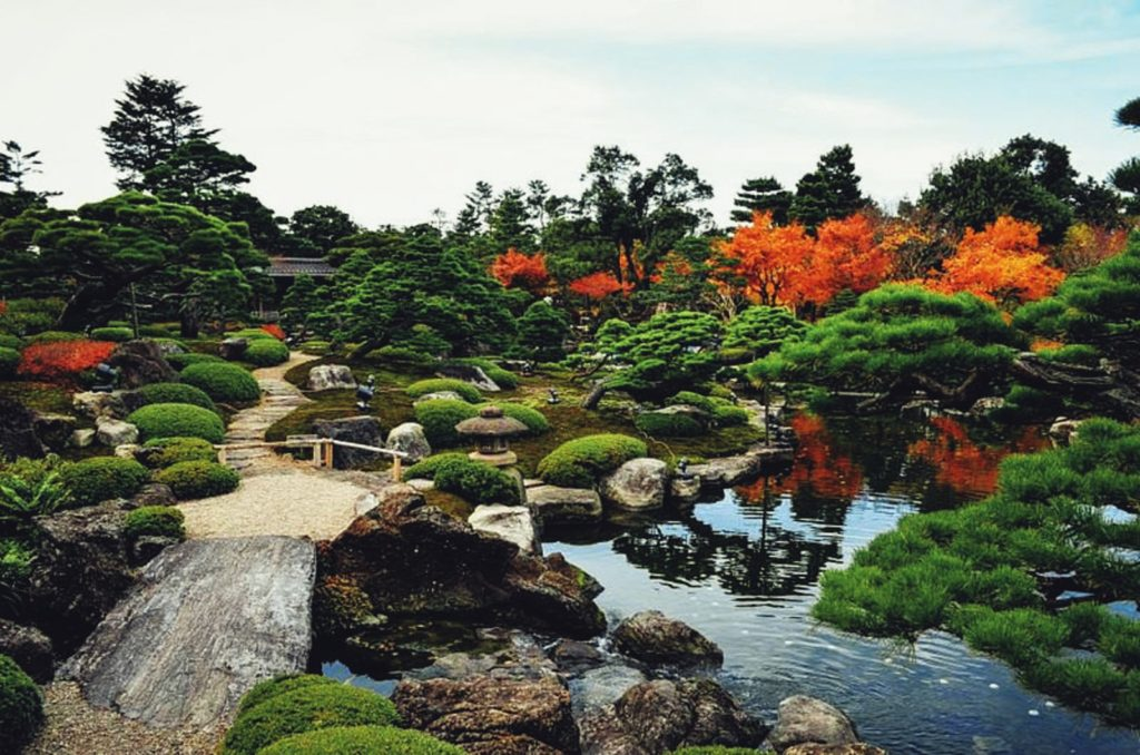 Best spots to see autumn leaves in Chugoku Yushien Garden