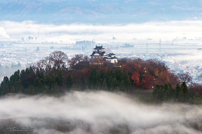 Echizen Ono Castle Fukui Autumn Leaves