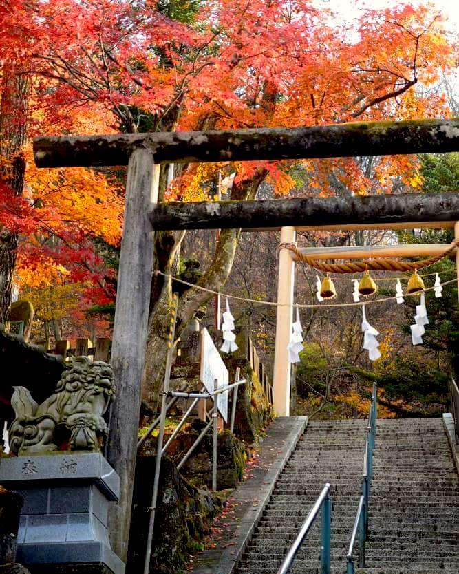 Ikaho Onsen Autumn Leaves Ibaraki Japan