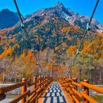 KamiKochi Autumn Leaves in Nagano Japan