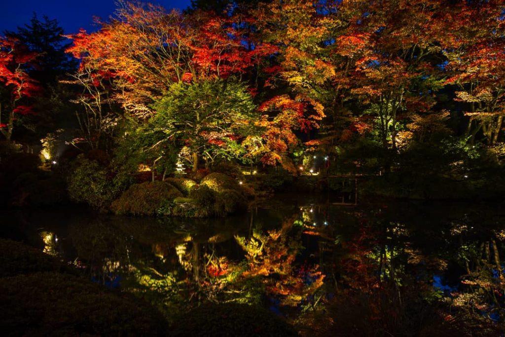 Shoyo-en Garden Autumn Illumination in Nikko Japan